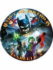 LEGO BATMAN PERSONALIZED ICING CAKE TOPPER'S VARIOUS SIZES