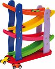 Click Clack Racetrack Wooden Childrens Car Slider Race Track Run Toy Spare Cars