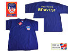 NEW FDNY YORK CITY 'NY BRAVEST' ON BACK T SHIRT FIRE CAP DEPARTMENT FIREMAN