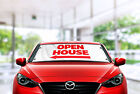 Open House Sign, Open House Today w/ Arrow, Real Estate Windshield Banner Sign