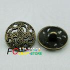 Vintage Flower 20mm Coat of Arms Shank Metal Buttons Sewing Collectable Craft