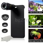 5in1 Camera Lens Wide angle +Macro + Fisheye +Telephoto Case For iPhone 6/7 New