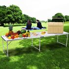 4 Type Portable Aluminum Folding Table Adjustable Height Picnic Table Top Sale