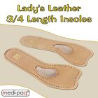 Medipaq® DELUXE LADY's 3/4 Length Leather Insoles - Metatarsal Foot Feet Pad Aid