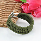 Paracord Bracelet Rope Outdoor Survival Camping Hiking Steel Shackle Buckle