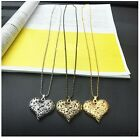 Ladies Women's Choker Necklace Pendant Peach Chain  Slivery Gold Filled Jewelry