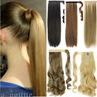 Real Soft Wrap Around Clip In Ponytail Hair Extensions Pony Tail Hair Piece hg27