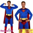 Adult Superman Chest Super Hero Halloween Costume Outfits Fancy Dress