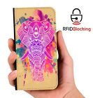 Indian Elephant Luxury Flip Cover Wallet Card PU Leather Phone Case Stand iPhone