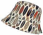 Kids Bush Hat Surfboard Design Summer Sun Polyester Boys Girls Cotton Cap