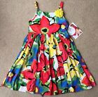 NWT girls size 12 & 14 Sweet Heart Rose Multi-Color Watercolor Floral Dress WOW!
