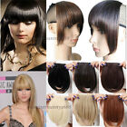 Straight Front Bangs Fringe Piece Clip In Hair Extensions Remy style Real hg92