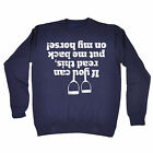 If You Can Read This ... Back On My Horse SWEATSHIRT jumper birthday equestrian