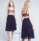 NWT ANTHROPOLOGIE TULLE-SKIRTED DRESS BY MOULINETTE SOEURS sz 6, Cute