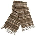 MOON 100 CASHMERE Tartan Pattern Scarf - Knitted In England