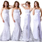 OEM White Bridal Prom Bridesmaid Wedding Ball Gown Bridal Evening Long Dress