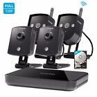 Zmodo 1080p HDMI NVR 4 1.0MP IP Video WiFi Home Security Camera System 1TB HDD