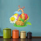 Easter Basket Mural Decal Party Decoration Wall Bunny Rabbit