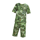 Mens Cotton Bush Camo T-Shirt/Shorts Hunting Fishing Clothes