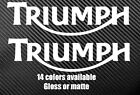 (2x)Triumph Durable Motorcycle Die Cut Vinyl Decals Different Sizes/Colors $5.5 USD