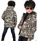 Kids Waterproof ACU Camo Soft Shell Jackets Fleece Thermal Hooded Coat Outwear