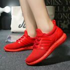 New Women's Casual Lace Up Sports Running Shoes Black&Red Slip Resistant Sneaker