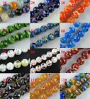 60pcs  Millefiori Glass Round Loose Beads Spacers 12colors-1 6mm