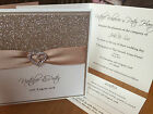 SAMPLE All That Sparkles wedding day/evening invitation & RSVP card *83 colours*