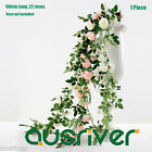 Life Like 100cm Artificial Rose Vine Garland Silk Flowers Wedding Xmas Decor