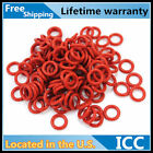 100Pcs 1mm Thick CROSS SECTIONT ID 1-15 Industrial Red Rubber O Rings