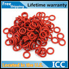 50Pcs 1mm Thick CROSS SECTIONT ID 16-46 Industrial Red Rubber O Rings