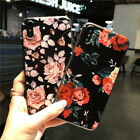 Cute Rose Pattern Rubber Soft TPU Silicone Phone Case Cover For iPhone 6s 7 Plus