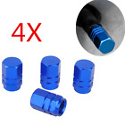 4XAluminum Car Wheel Tire Valves Tyre Stem Air Cap Airtight Cover Blue wholesale