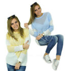 Pulli Pullover Damenpulli Strickjacke Top Sweater Bluse Jumper Damen MARGO NEU