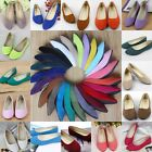 New Fashion Suede Slip On Flats Ballet Casual Loafers Boat Womens Single Shoes