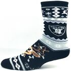 Oakland Raiders NFL Football Ugly Christmas Sweater Reindeer Crew Socks $10.49 USD on eBay