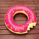 Inflatable giant doughnut floating swimming beach toys inflatable swimming pool