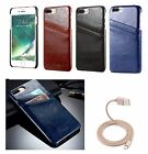 Black Business Luxury Leather Case Cover iPhone 7/8 Plus 5.5'' Floveme Cable