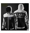 Biohazard Resident Evil S.T.A.R.S Raccoon Men Full Zip Hoodie Sweat Coat Jacket