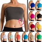 Women Seamless Strapless Bra Bandeau Fits Fashion Tube Top Sports Bra Yoga Shirt