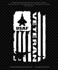 Distressed Air Force Usaf Veteran Flag Vinyl Decal Military Sticker - 4 Sizes