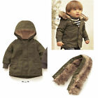 Hot Infant Baby Boys Long Sleeve Hoodied Thicken zipper Coat Warm Winter Jacket