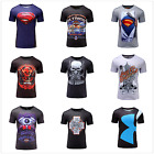 Mens Marvel Compression Tights Gym Fitness Motorcycle Cycling Jersey 3D T-Shirts