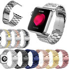 Stainless Steel Wrist Bracelet Clasp Strap For Apple Watch Band iWatch 38mm 42mm