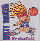 Vintage 1990s BUTT NAKED Troll BASKETBALL T-Shirt WHITE NWT NEW Old Stock 2XL