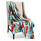 """Printed Fleece Throw Blankets - 50x60"""" NEW 3 Styles to Choose From"""