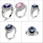 Amazing Round Size 6,7,8 9 High-quality Silver Copperl Women's Fashion Rings