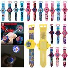 3D Cartoon Projection Watch Patrol Pokemon Paw Avengers Wristwatch Kids Toy Gift