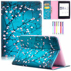 Painted Leather Wallet Cards Stand Case Cover For Amazon Kindle Paperwhite 1 2 3