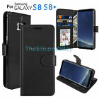 Leather Flip Wallet Cover Case Folio Pouch Stand For Samsung Galaxy S8/ S8 Plus